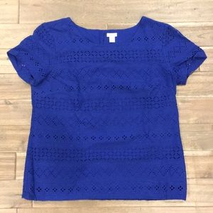J. Crew Factory Lace Eyelet Top